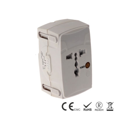 Universal adapter built-in 4 different plugs