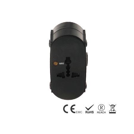 Perfekter Reisestecker mit leistungsstarken 10A max. spez. - Reise-Adapter