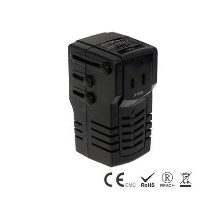 ワールドプラグ付き50W電源電圧コンバーター