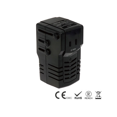 50W Power Voltage Converter with World Plugs - Travel Converter