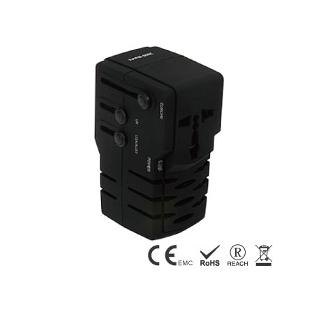 マルチプラグ付き2000Wユニバーサル電圧コンバーター