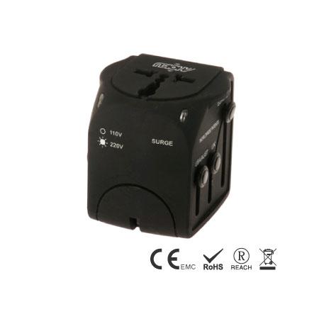 Universeller Reiseadapter mit integrierter 6-A-Sicherung - Reise-Adapter