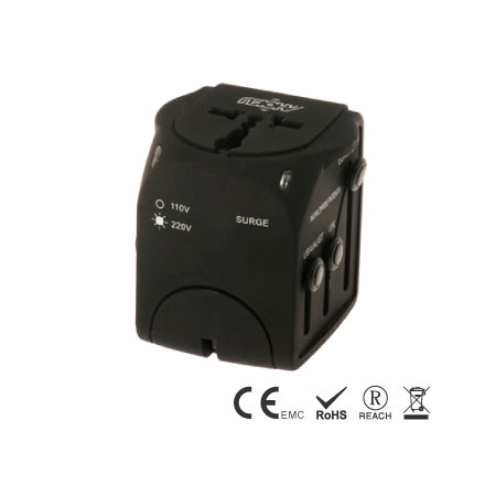 Universal Travel Adapter built in 6A Fuse - Travel Adapter