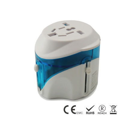 6A Universal Travel Adapter built-in 4 different plugs with universal AC outlet