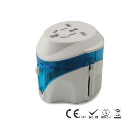 万国旅行转换器内置4个不同插头 - 旅用转换插接器