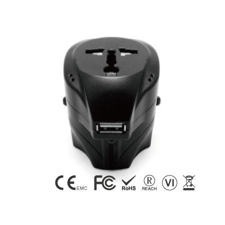 USB充電器付きユニバーサルトラベルアダプター - ユニバーサルトラベルアダプターフロントサイド