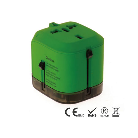 8A Universal Travel Adapter built in children safety shutters