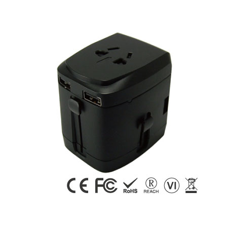 Universal Travel Adapter with Four Ports USB Charger - Universal Travel Adapter Right Side