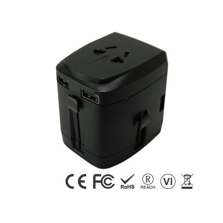 Универсальный дорожный адаптер с четырехпортовым зарядным устройством USB - Универсальный дорожный адаптер, правая сторона