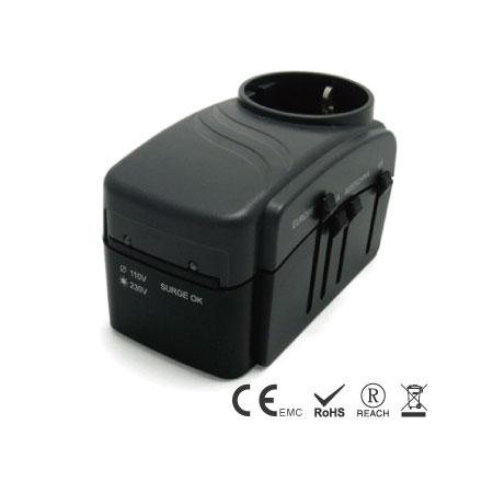 3-polige Erdungsstecker - Geerdeter Multi-Nation-Reiseadapter