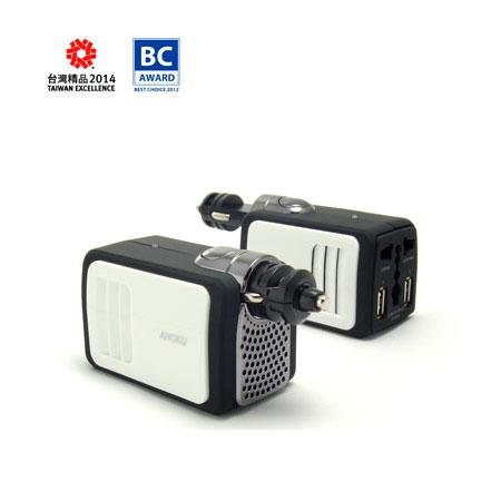 Inversor de corriente para coche de 100 W y 12 V con puertos de carga USB dobles de 2.1 A