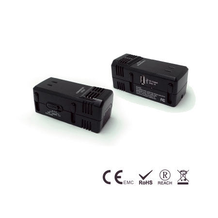 USB 포트가 있는 1875W 강압 전압 변환기 - 여행 변환기
