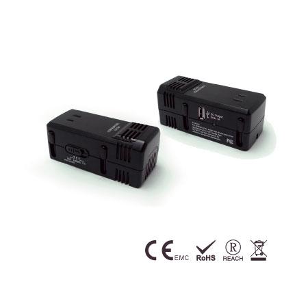 1875W Abwärtsspannungswandler mit USB-Anschluss - Reisekonverter
