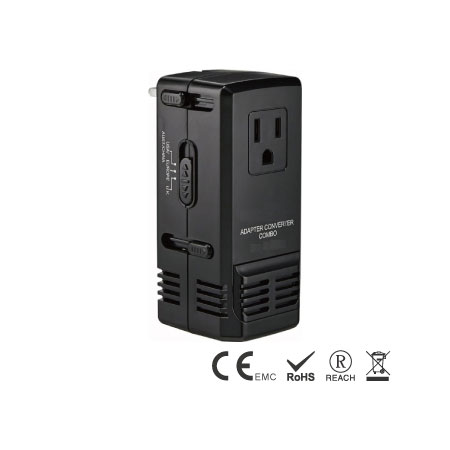 1875W Step Down Travel Converter and Adapter COMBO - 1875W Travel Converter and Adapter COMBO