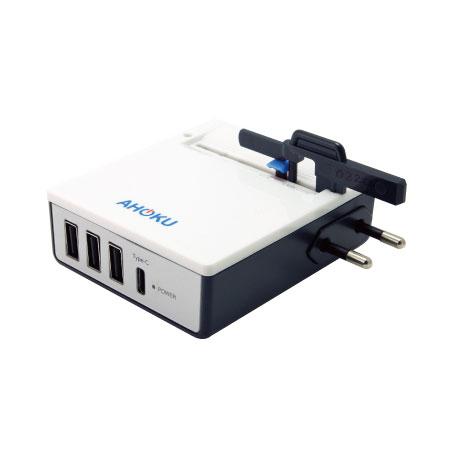 超薄全球通用旅行充電器英規插腳, 適用於英國, 香港, 澳門, 新加坡, 馬來西亞等國家