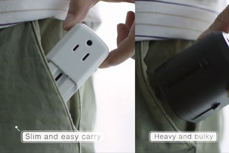 Ultra-small power travel adapter plug for any pocket