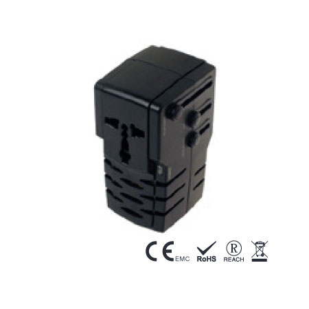 50W Step Up Travel Transformer with Adapter Plugs - Step Up Travel Converter