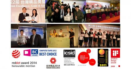 Awards by roddot, iF, Taiwan Excellence and CES Innovation...etc.
