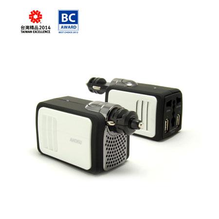 カーチャージャー&インバーター - 2.1AUSB充電器付きカーインバーター