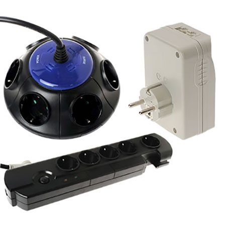 GERMAN (DIN) Power Strip - Schuko Surge Power Strip