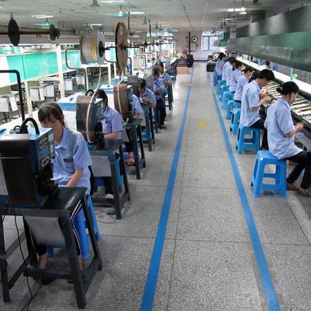 PCB และสายรัดของสายการผลิตกึ่งสำเร็จรูป