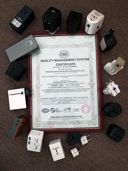 1997年からISO9001の認証を取得しています。