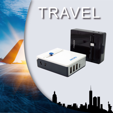 Travel Adapter Converter & USB - Power Travel Adapter