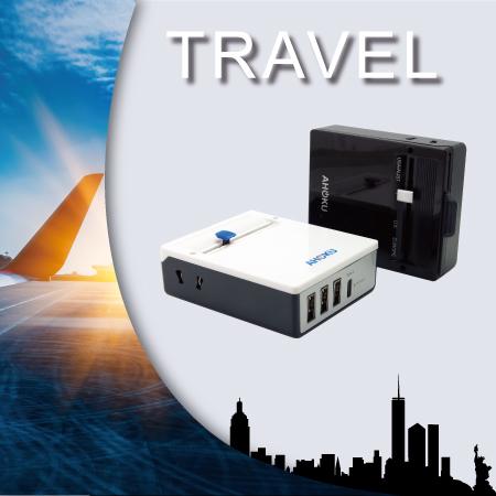 Конвертер      адаптера для путешествий      и USB - Адаптер питания для путешествий