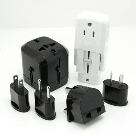 Enchufe adaptador mundial - Adaptador de viaje con 4 enchufes integrados.