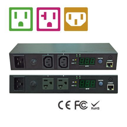 NEMA/IEC 2 Outlets 1U IP-Based PDU
