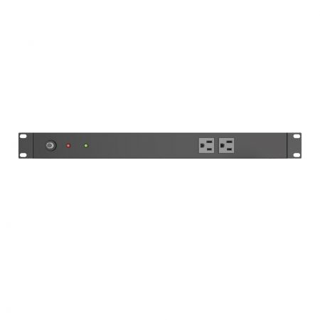 Front side, 2 x 5-15R outlets PDU, CB and LED for Rack