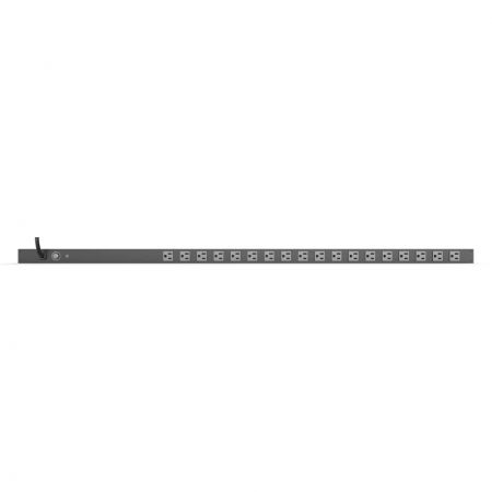 18 outlet Space-saving 0U PDU with Ampere Meter