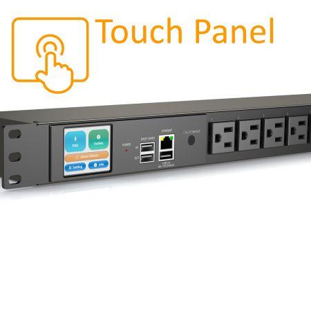 8 ổ cắm Màn hình cảm ứng PDU thông minh NEMA 5-15R 1U 15A 125V - iPDU
