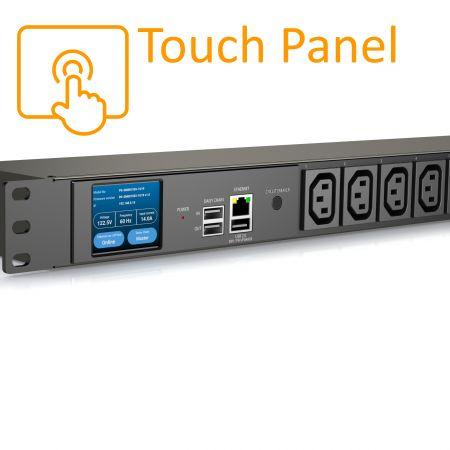 8 Ausgänge C13 iPDU Touchscreen Display 15A 125V - Intelligente PDU