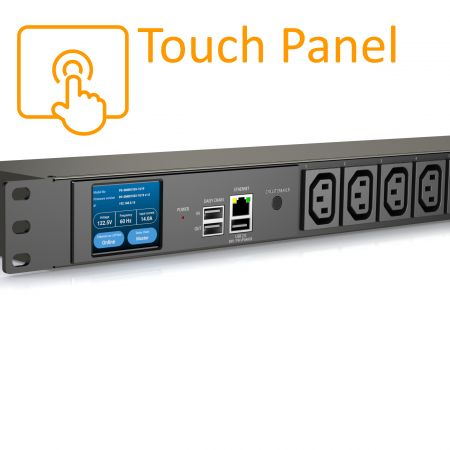 8つのアウトレットC13iPDUタッチスクリーンディスプレイ15A125V - インテリジェントPDU