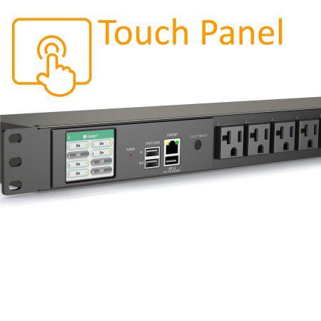 8 Outlets Smart PDU Touch Screen NEMA 5-20R 20A 125V - Smart PDU