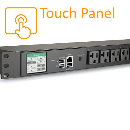 8 Outlets Smart PDU Touch Screen NEMA 5-20R 20A 125V - Smart PDU