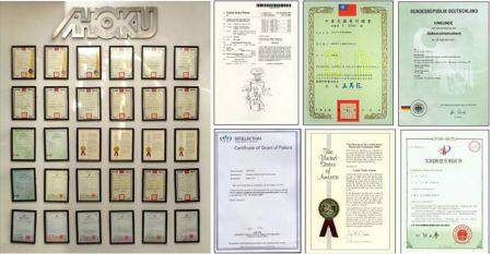 歐格擁有世界各國專利及安規認證