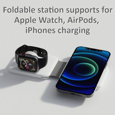 3 in 1 Foldable Magnetic Wireless Charger - Multi-Function Wireless Charger