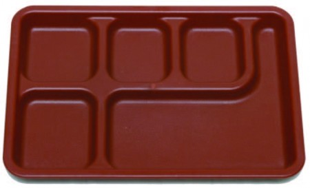 EX-1014 6-compartment food plate - EX-1014 6-compartment food plate