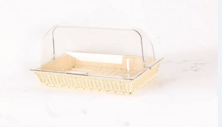 TB-3217 Rect. Plastic Rattan Basket (color: black, beige, tea)