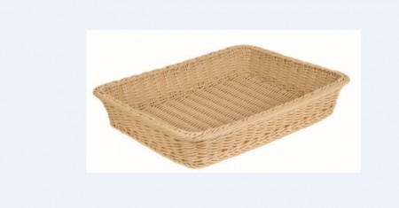 TB-3351-BE Rect. Plastic Rattan Basket (color: original)