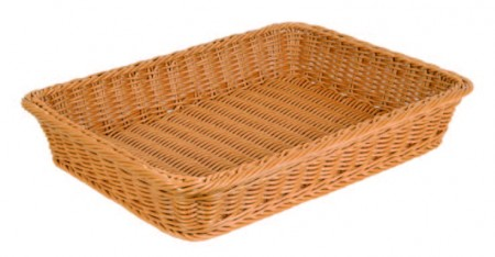 TB-3351 Rect. Plastic Rattan Basket (color: tea)