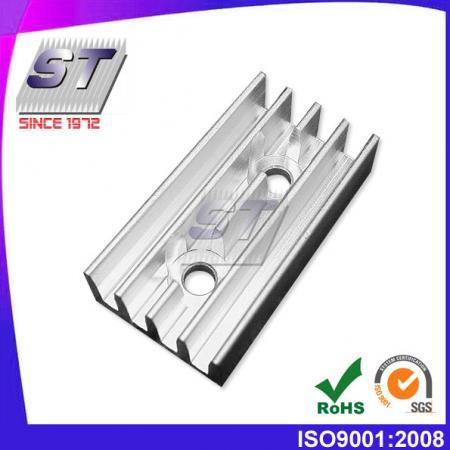 Disipador de calor de aluminio para industrias electrónicas 19,5 mm × 10,0 mm
