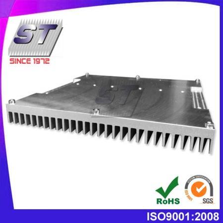 W195.0mm × H21.55mm 알루미늄 압출 맞춤형 방열판