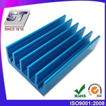 Aluminium koellichaam voor auto-industrie 34,1 mm × 15,2 mm