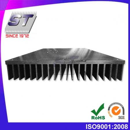 W200.0mm × H36.0mm Aluminum Heat Sink Extrusion