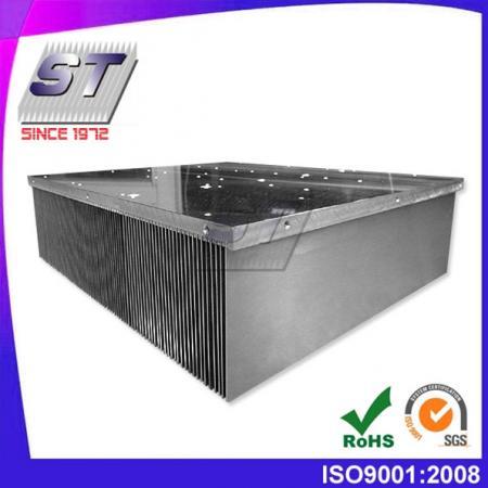 W363.0mm × H100.0mm 電梯用插片式鋁製散熱片
