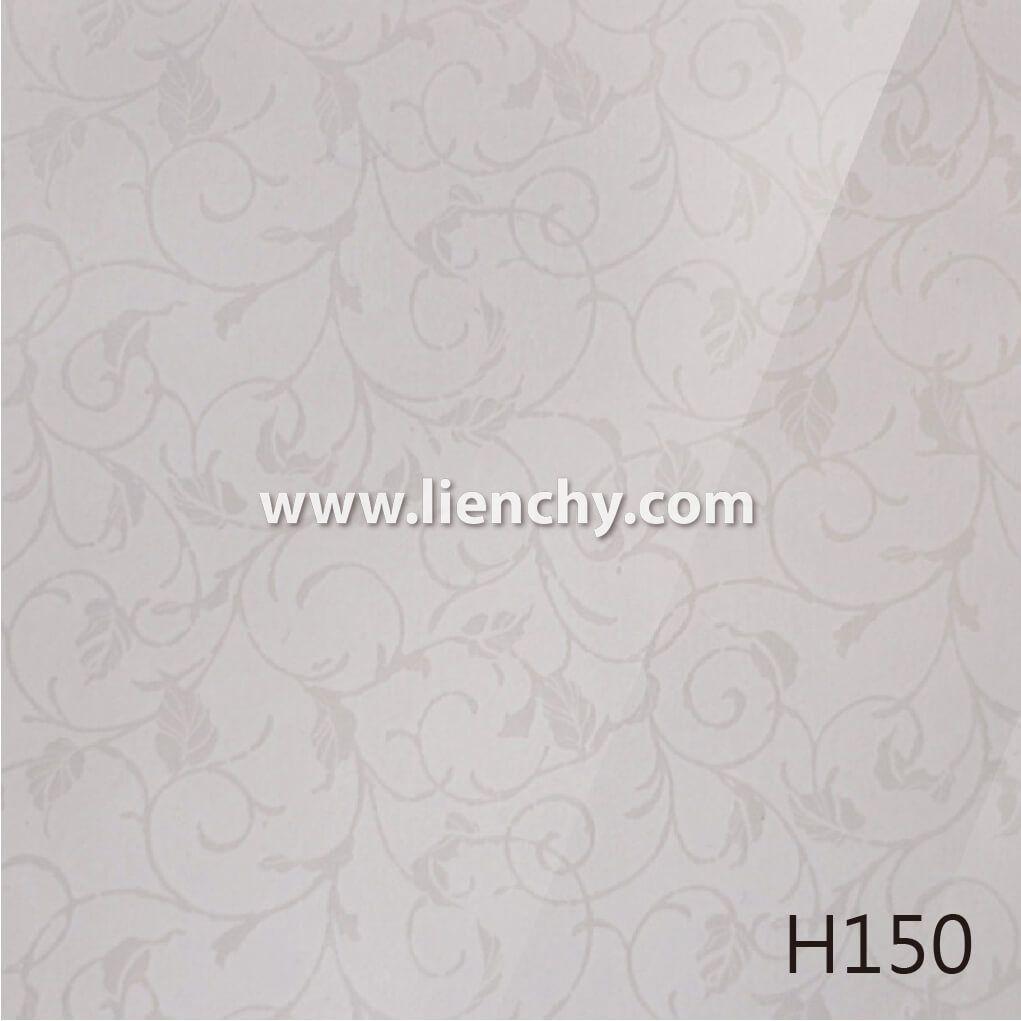 Feuille Stratifié Blanc Brillant miroir à finition brillante (pvc + pet) pré-revêtu