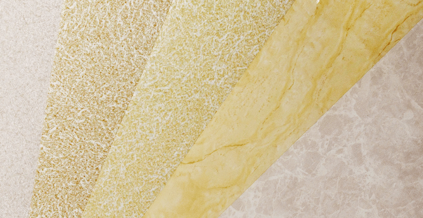 Stone Texture PVC Film Laminated Metal